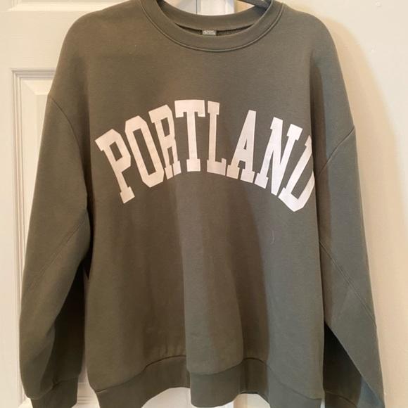 wild fable Tops - Olive Green Target Sweatshirt